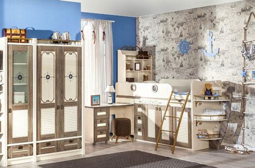 классическая детская комната для мальчика 9 лет