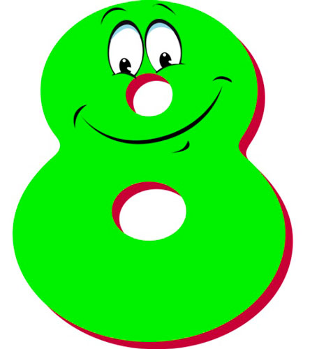 Стихи про цифры для детей цифра 8