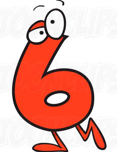 Стихи про цифры для детей цифра 6