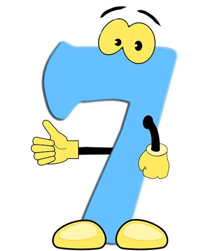 Стихи про цифры для детей цифра 7