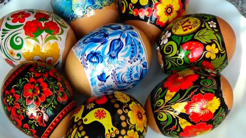 как красить яйца на Пасху: термонаклейки 3