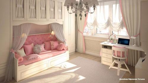 классическая детская комната для девочки 2