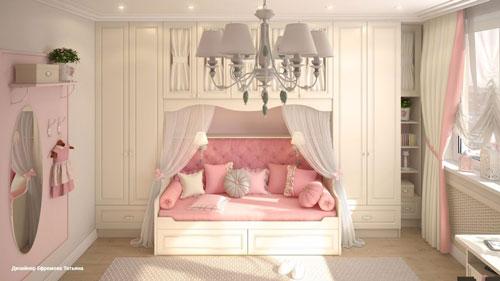 классическая детская комната для девочки