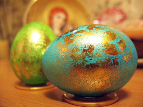 Красим яйца на Пасху: оригинальные идеи с помощью салфеток 5