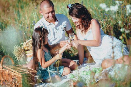 пикник на природе- идея для фотосессии