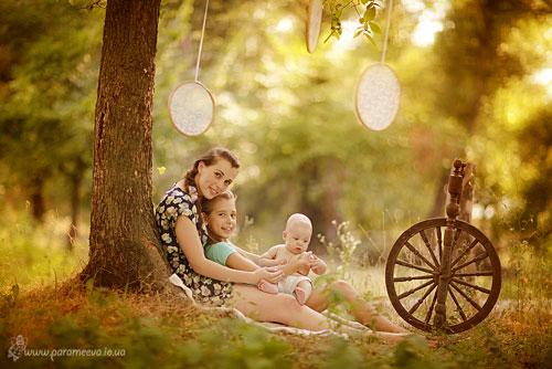 семейная фотосессия на природе: красивая идеяидея