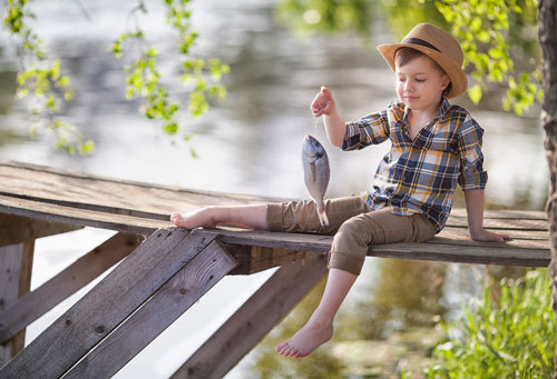 рыбалка - фотосессия для мальчика