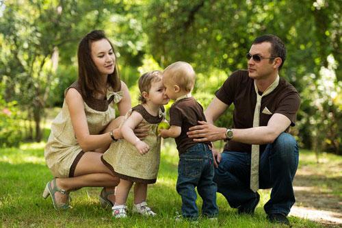 семейная фотоссесия в едином стиле