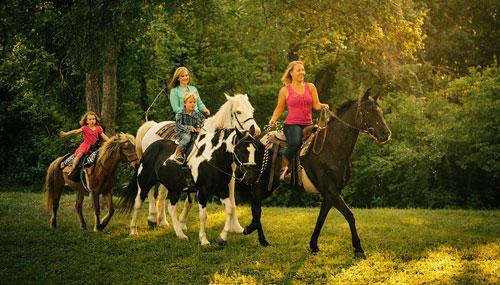 идеи семейной фотосессии летом на лошадях