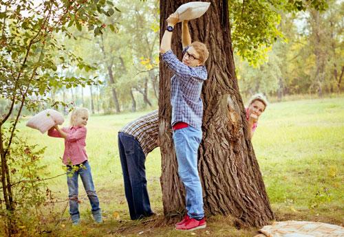 креативные идеи для семейного фото