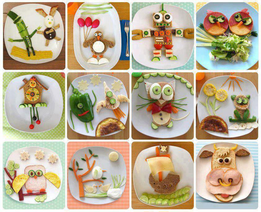 идеи для необычного оформления детских блюд