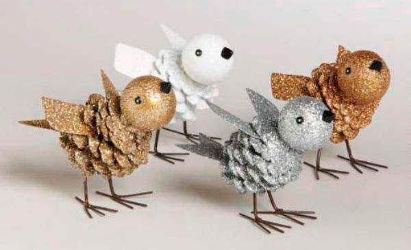 птицы из шишки