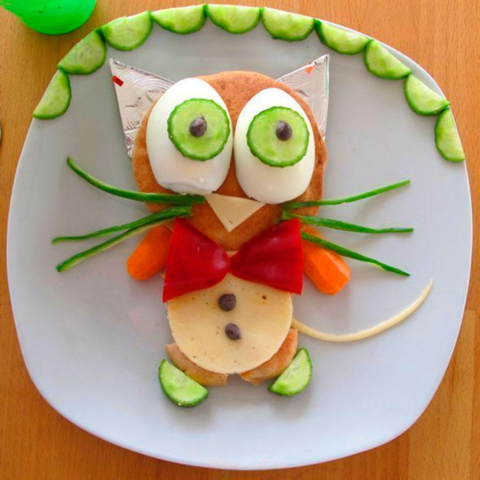 красивое оформление бутерброда для ребенка