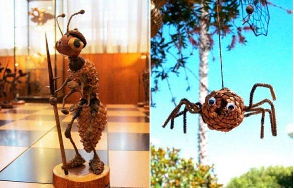 муравей из шишек