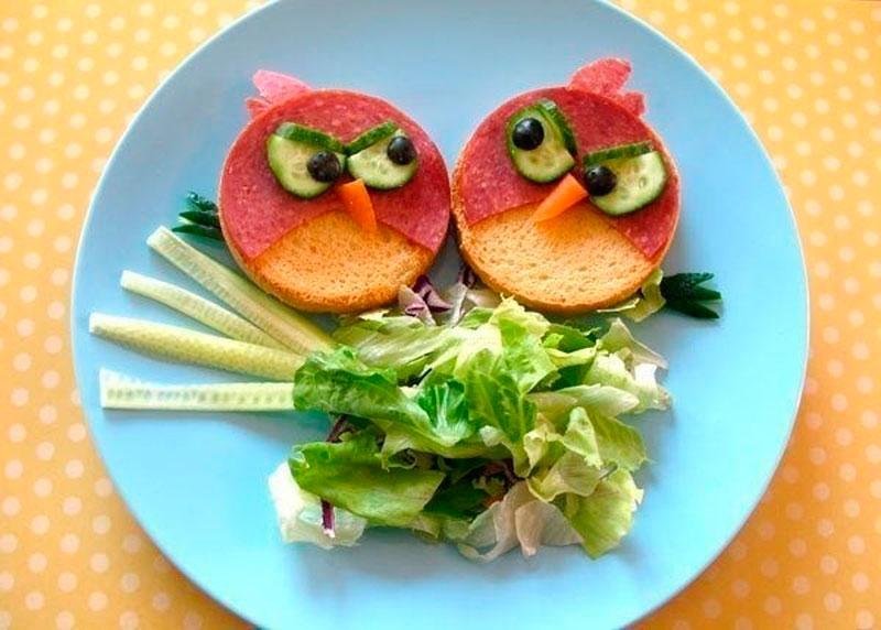 необычное оформление детских блюд