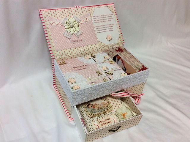 коробка с выдвижным ящиком