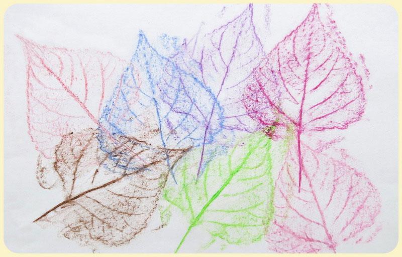 интересные поделки из сухих листьев