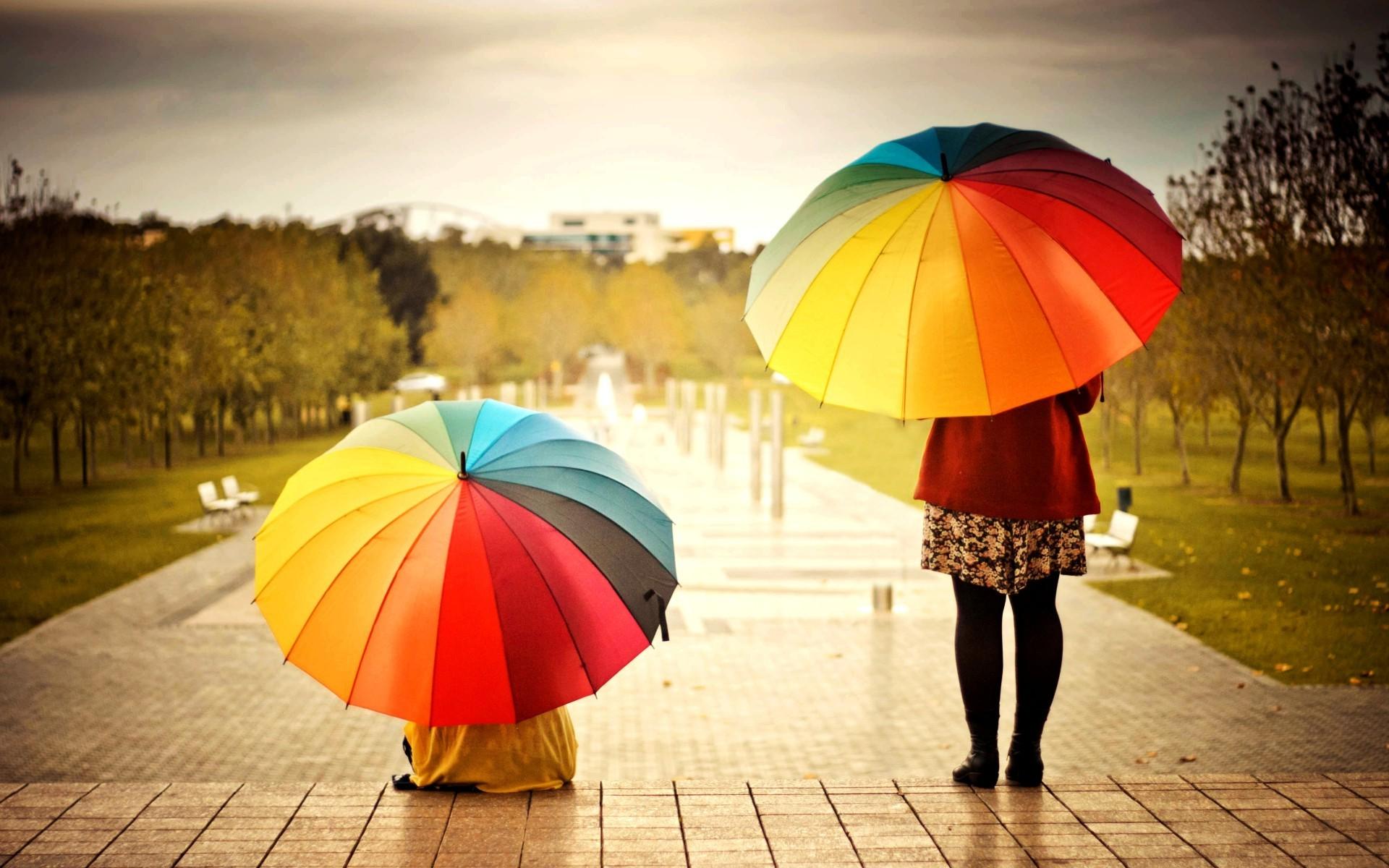 осенние прогулки под зонтом