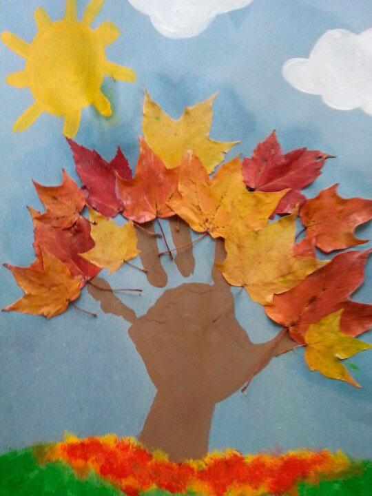 листья и ладошка