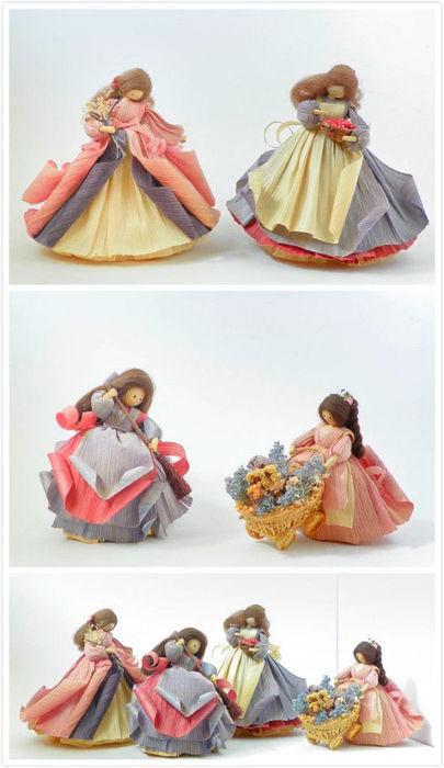 красивые куклы из кукурузных листьев
