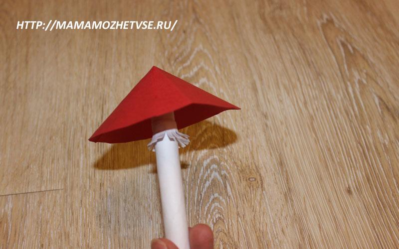 гриб мухомор поделка для детей