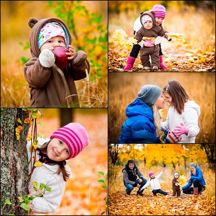 семейное фото осенью