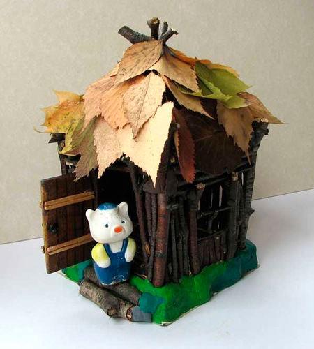 маленький домик - поделка в детский сад