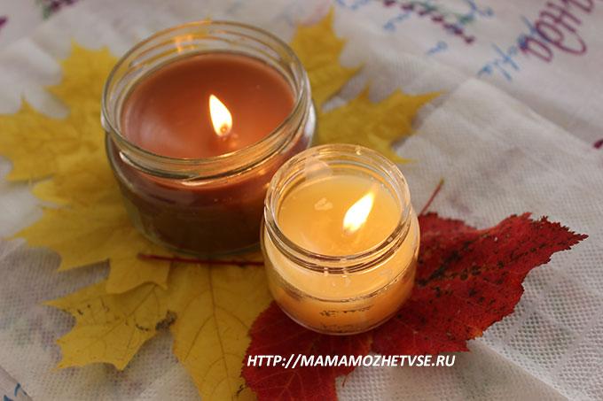 мастер класс по изготовлению свечей из воска в баночках с пошаговым фото
