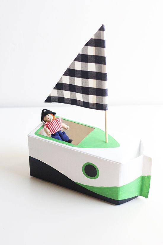 корабль от упаковки тетропак