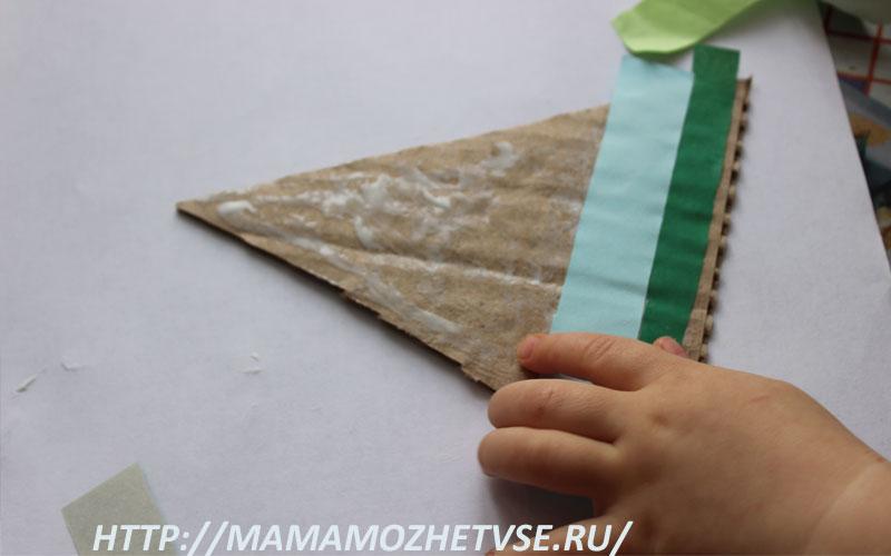 изготовление елки из бумаги