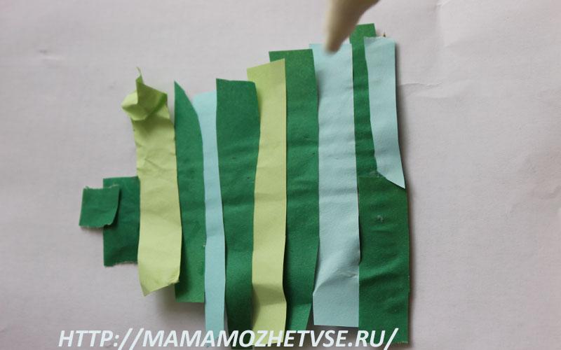 как сделать новогоднюю елку из картона и цветной бумаги