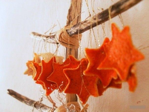 поделки из апельсиновой кожуры