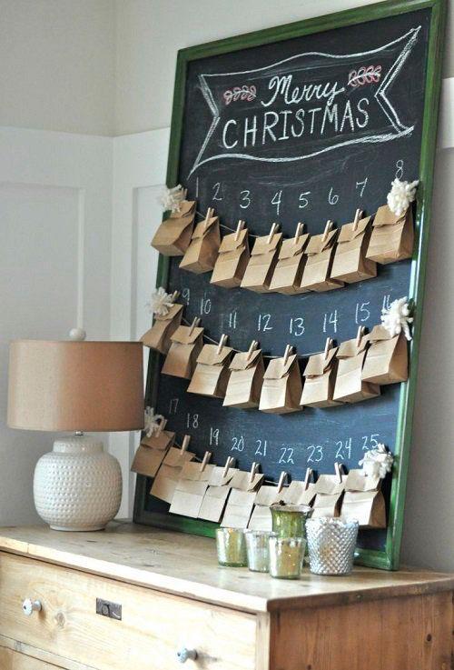 календарь из бумажных пакетов своими руками