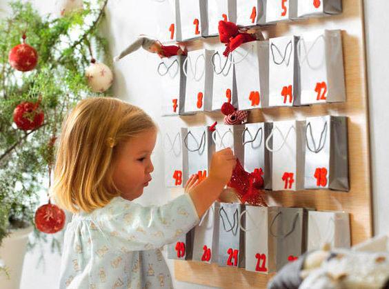 адвент календарь для детей своими руками к Новому году