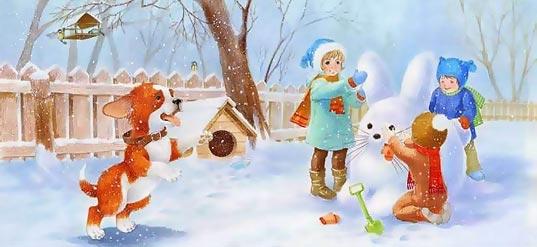 стихи про зиму на английском языке для детей