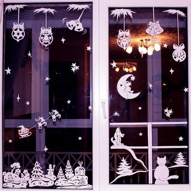 Украсить окна к новому году своими руками шаблоны 2015 году