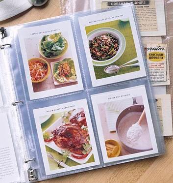 кулинарная книга в альбоме для фотографий