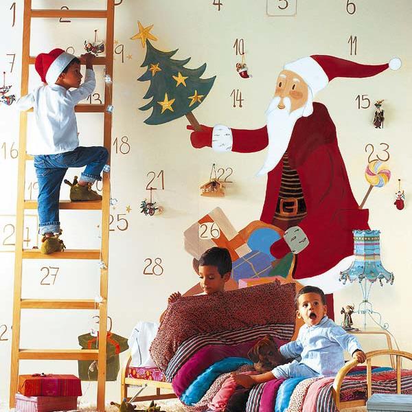 новогодние наклейки на стену