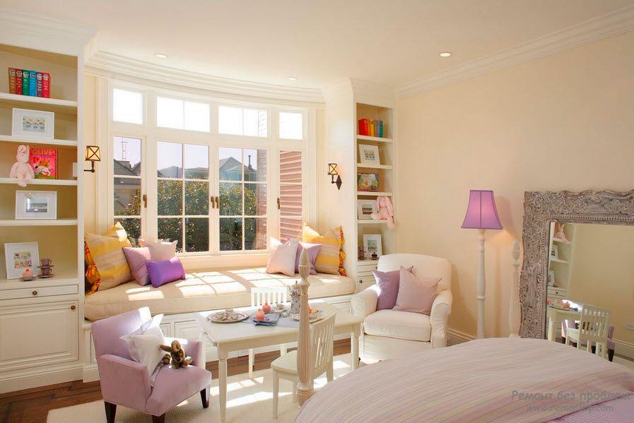 Дизайн детской комнаты в фиолетовых тонах 2