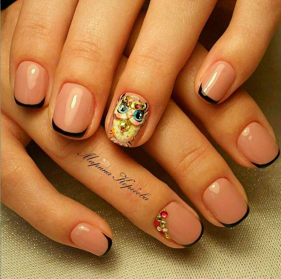 французский маникюр на короткие ногти гель лаком
