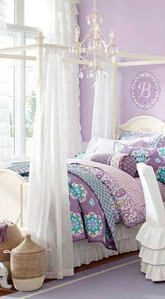 фотография фиолетовой комнаты ребенка 4