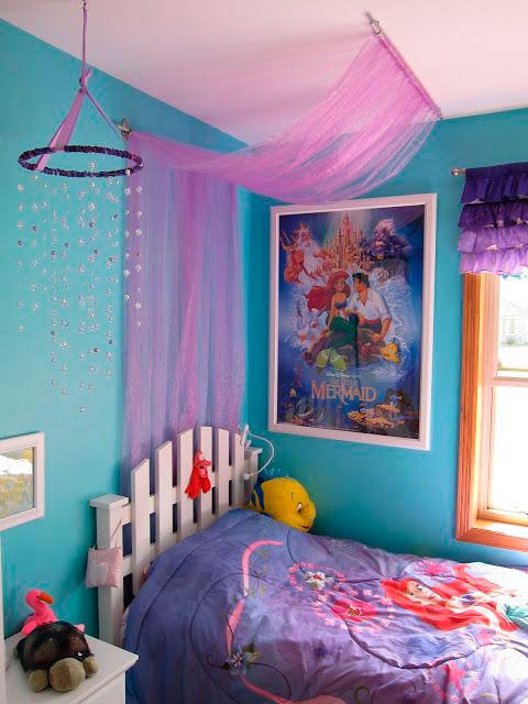 фиолетовая детская комната для девочки 2
