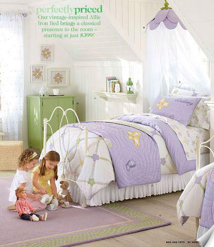 фиолетовая детская комната
