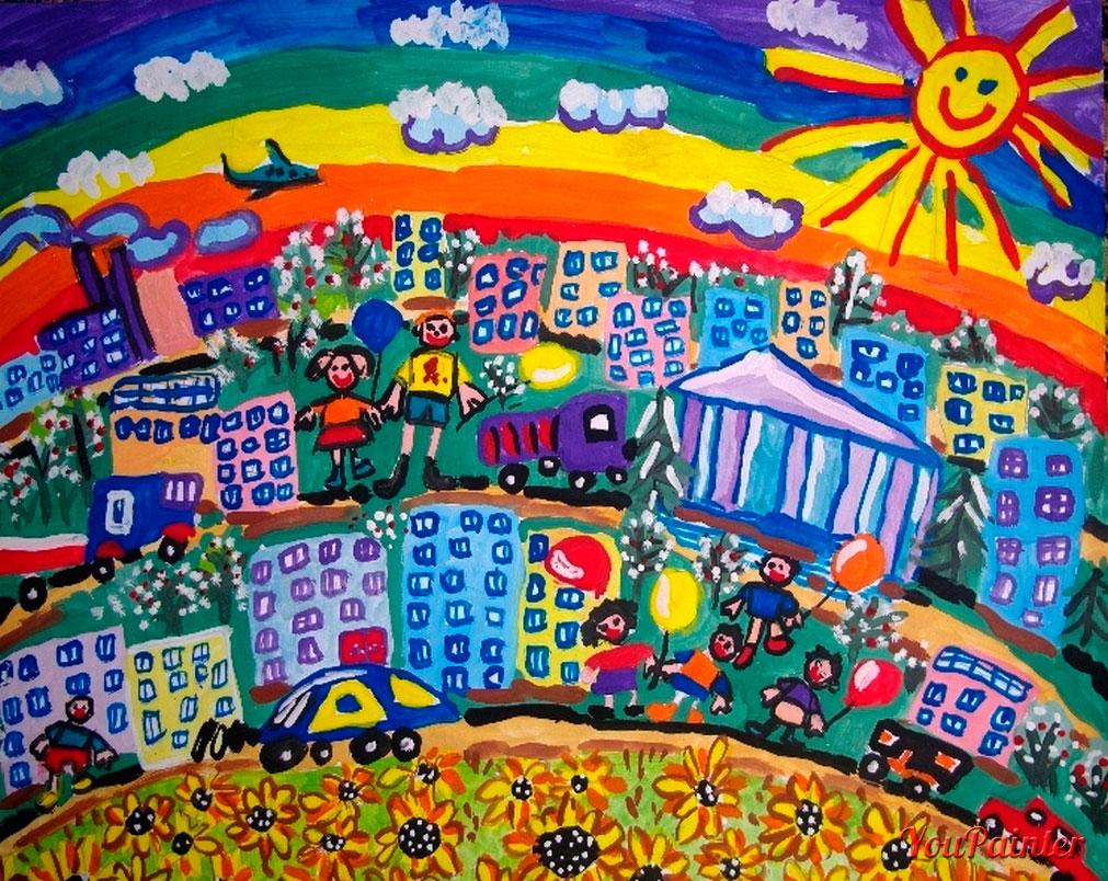 детские стихи про город