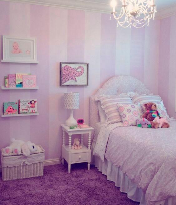 фотография фиолетовой комнаты ребенка 3