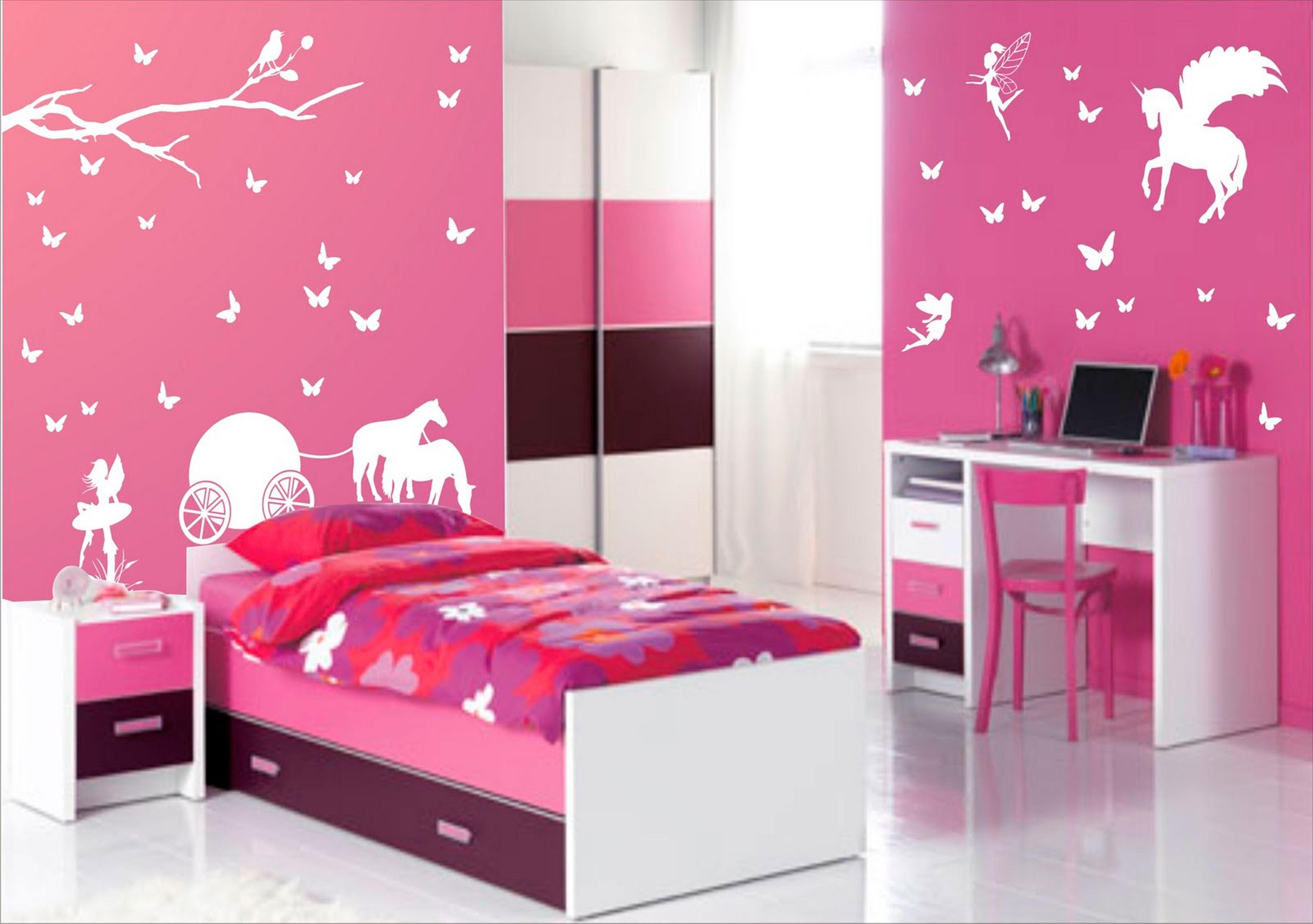 красивая фиолетовая детская комната