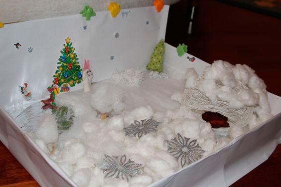 зима в коробке