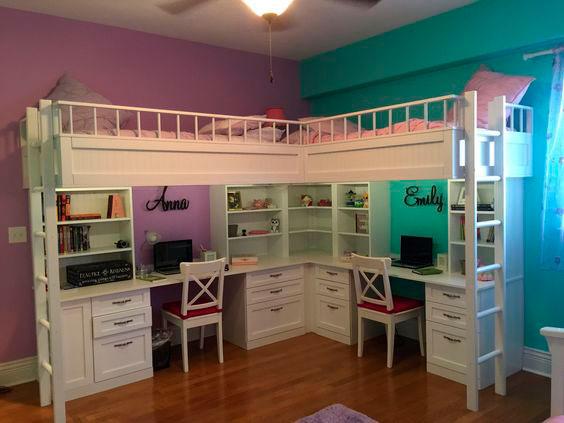 фото фиолетовой детской комнаты 2
