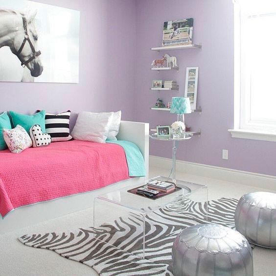 Детская фиолетовая комната фото 1