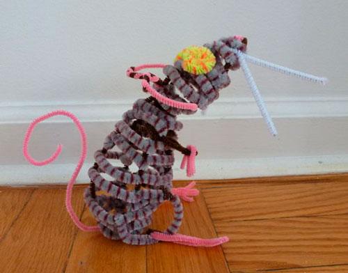 детская поделка мышь из проволоки